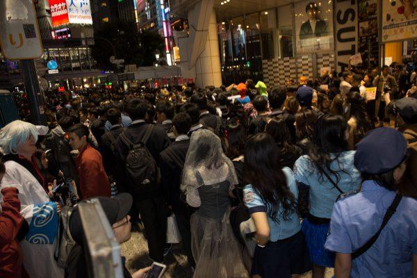 渋谷ハロウィン2018 スクランブル交差点 ツタヤ