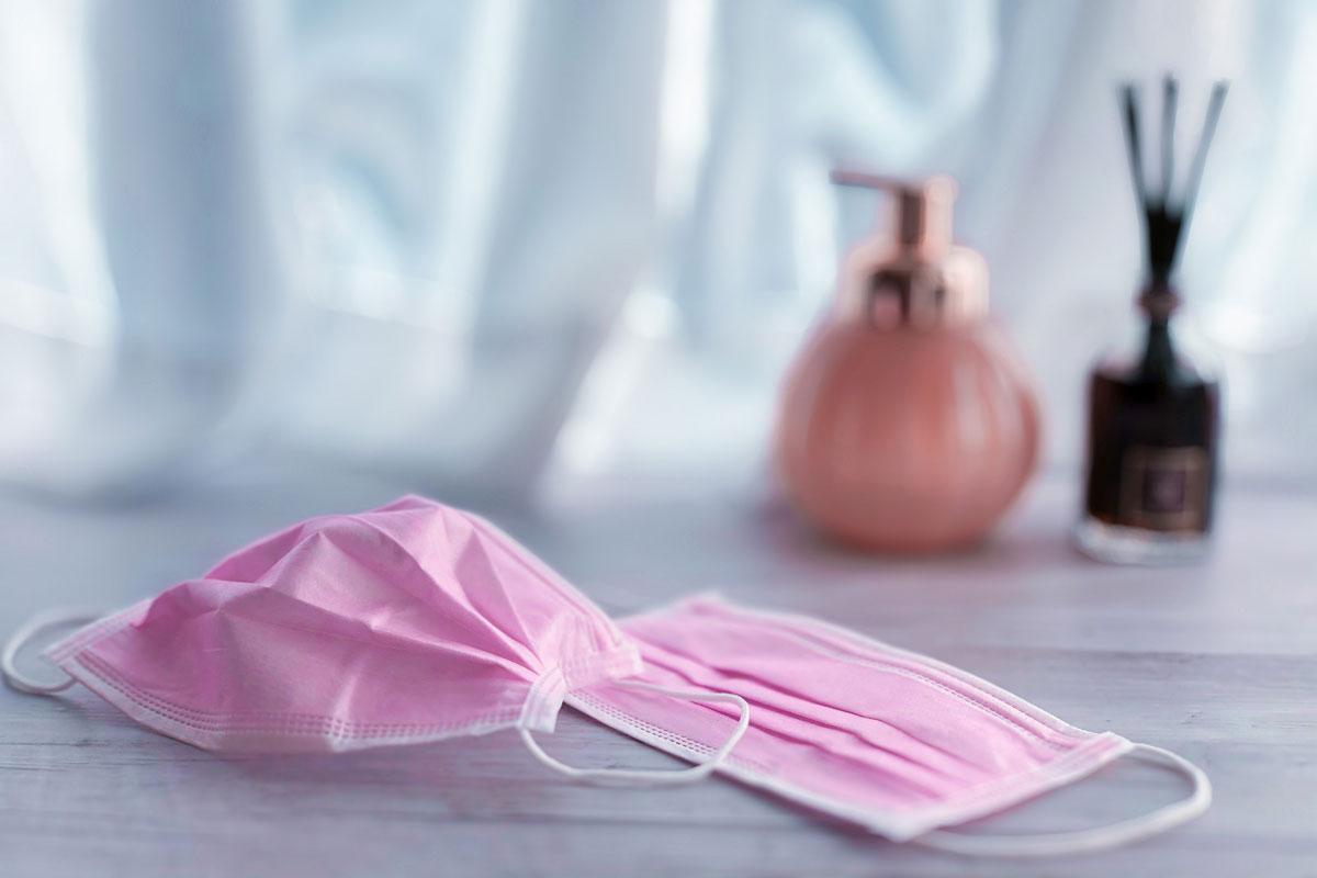 サージカルマスク ピンク インフルエンザ