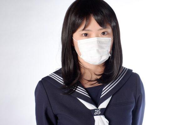 マスク 女子校生 ポートレート