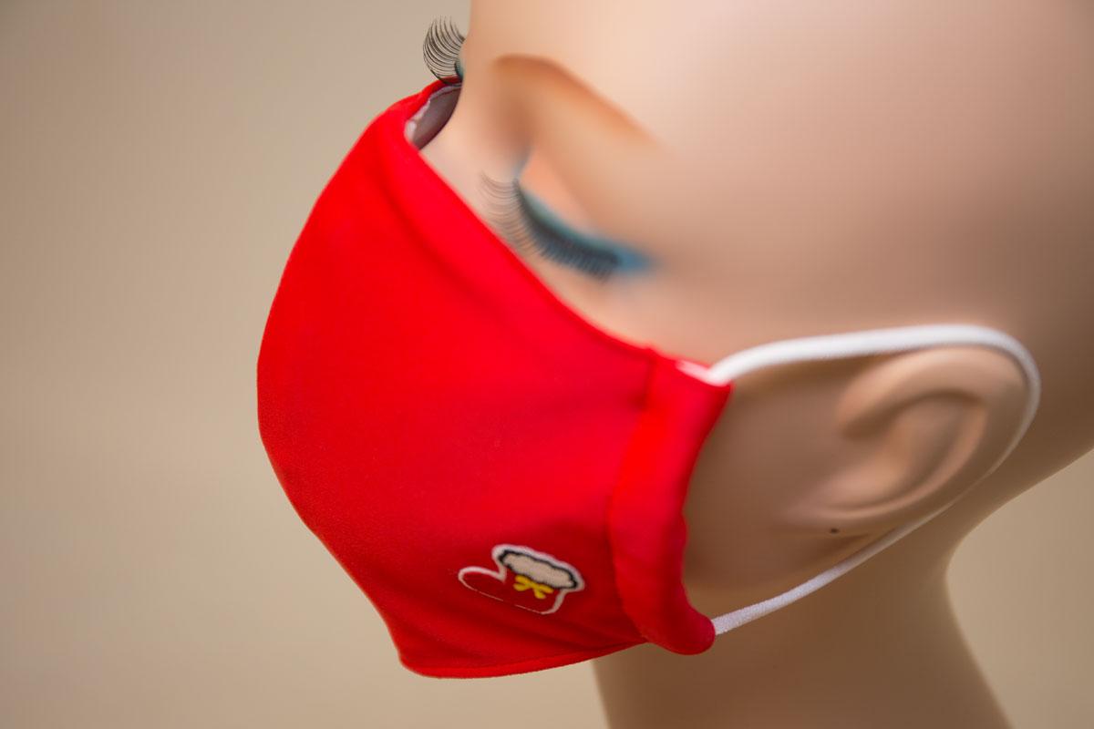 水着素材マスク 赤 RED クリスマス