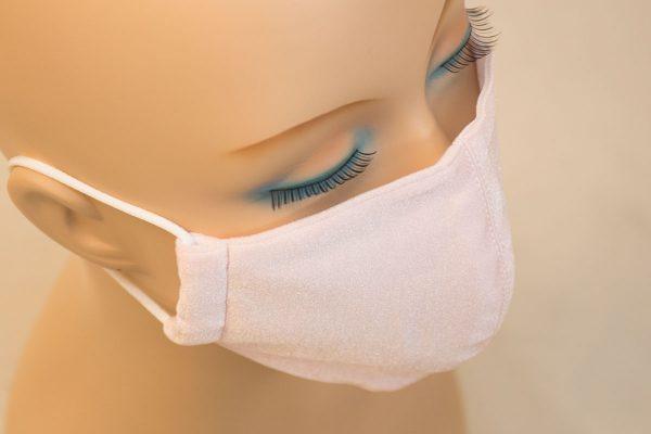 スク水マスク さくら色 薄いピンク 水着生地 肌にいい 春コーデ